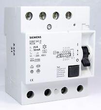 Siemens Rccb Fi Circuit Breaker 5Sm1342-6 25A 230V / 400V 4 Pole