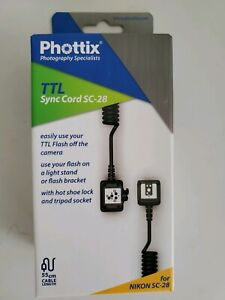 Phottix TTL Flash Remote Cord for Nikon SC-28