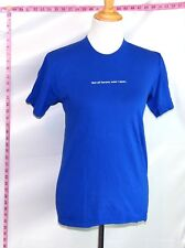 American Apparel Blue Not All Heroes Wear Capes T-Shirt Top Sz S # 4697 B-155