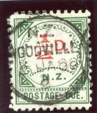New Zealand 1899 QV Postage Due ½d carmine & green very fine used. SG D1. Sc J1.