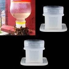 2x Strumento apicoltura diffusore acqua api abbeveratoio attacco a bottiglia