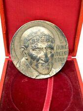 Saint Vincent de Paul & Sainte Louise de Marcillac & Médaille Argent Massif