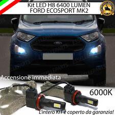 KIT FULL LED H8 FORD ECOSPORT MK2 LAMPADE FENDINEBBIA CANBUS 6400 LUMEN 6000K