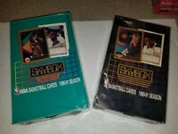 210 / 1990 - 91 Hoops and Skybox NBA Basketball CARDS in New and Unopened Packs