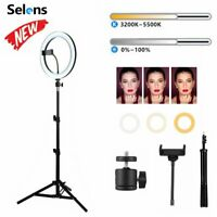 "26cm 10"" LED Ring Light Dimmable Lighting Kit Phone Selfie Tripod Makeup Live"