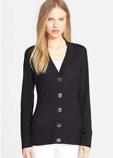 NWT Tory Burch Navy Blue  Simone Cardigan Sweater Size XS. Merino wool