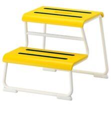 IKEA GLOTTEN Tritthocker gelb Badezimmer Hocker Stufenhocker Kinder Birken Holz