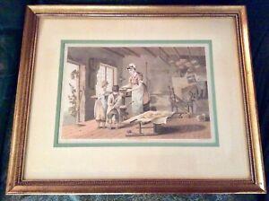 "Original 1813 Aquatint ""Home Bakery"" Robert & Daniel Havell London England"