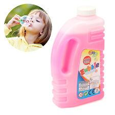 850ML Protable Bubble Solution Gun Machine Blower Refill Pink Liquid Fluid Solut