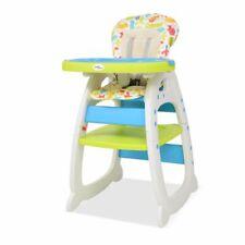 vidaXL Kinderstoel met Blad 3-in-1 Verstelbaar Blauw en Groen Babystoel Stoel