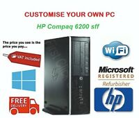 HP Compaq 6200 Pro SFF Core i3 i5 i7 16GB RAM 2TB HDD SSD Windows 10 Desktop PC