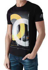 CROSSHATCH Herren T-Shirt CHICAGOS CH PHOTO PRINT TEE kurzarm rundhals Logo NEU