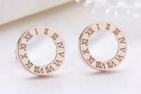 Ohrringe Ohrstecker Römische Ziffern Zahlen Bulgarien Luxus Rose-Gold Swarovski