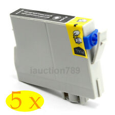 5x Ink Cartridges T0621 Black Only for Stylus C67 C87 CX3700 CX4100 CX4700