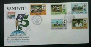[SJ] Vanuatu 75th Anniversary Of Scouting 1982 Uniform Camping (FDC) *clean