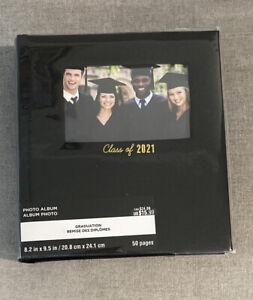 "Class of 2021 Graduation Picture PHOTO ALBUM 8""x9.5"" 50 Pages 200 Photos New"