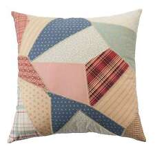 """Chaps The Springs Patchwork Throw Pillow Only Multi 18"""" Square Cotton Country"""