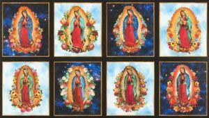 Pre-cut Fabric Panel Robert Kaufman Inner Faith Digital Blessed Mother Mary
