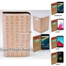 For LG Stylus DAB+ G6 G5 G4 G3 - Fleur de lis Print Wallet Phone Case