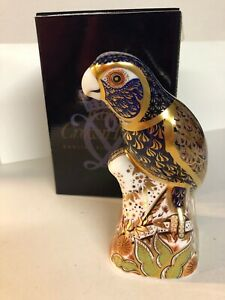 Royal Crown Derby Bronzed Winged Parrot