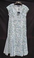 BNWT Dash white/floral lined cap sleeve long/maxi dress RRP £79 Size 14