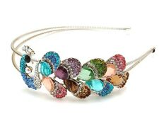 New Fashion  Multi-Color Crystal High Quality Metal peacock headband #788