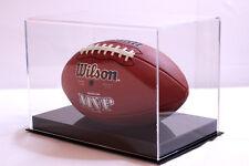 Football full size acrylic display case 85% UV filtering NFL NCAA memorabilia