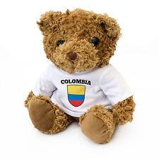 NEUF - Colombie Drapeau Ours En Peluche - Ventilateur Cadeau Présent