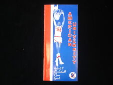 1966-67 American University Basketball Media Guide EX+