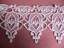 "5-1/2"" Majestic Venise White Wedding Lace Bridal ScrapBooking #1836"