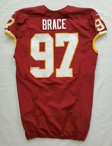 #97 Brace of Washington Redskins NFL Game Issued Player Worn Jersey
