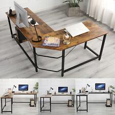 Home Office L Shaped Corner Computer Desk Pc Study Table Workstation Desk Table