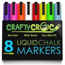 GLOW IN THE DARK CHALK WET ERASE MARKER LIQUID CHALK KIDS ART MULTIPURPOSE DECOR