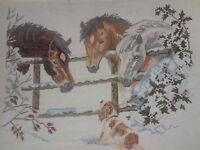 SNOW HORSE IS A 14 COUNT CROSS STITCH KIT WITH  DMC,ARIADNA OR  ANCHOR THREADS