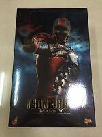Hot Toys MMS 145 Iron Man 2 Mark V 5 Tony Stark 12 inch Action Figure NEW
