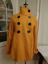 STEVE MADDEN gold wool blend babydoll coat with back pleat women's M