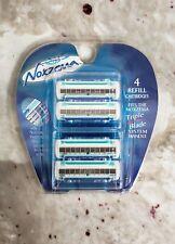 Noxzema Triple Blade Refill Cartridge 4 Pack Micro Foil Guard Lubricating Strips