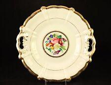 Antique TPM Carl Tielsch Altwasser Handled Plate Gold Painted Thick Porcelain