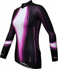 Women's Long Sleeve Cycling Jerseys with Full Zipper
