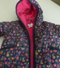 Ralph Lauren Baby Bunting Snowsuit 6 months Blue Floral Pink Lining