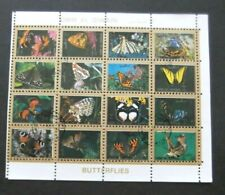 Umm Al Qiwain-1972-16 stamp Butterfly Minisheet-Used