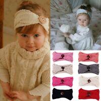 Kids Baby Toddler Girls Knit Turban Hair Band Headwear Headband Hair Accessories