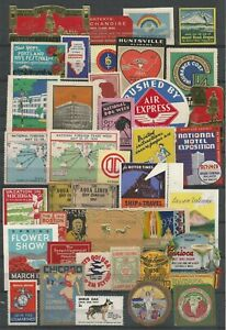 USA Lot of 40 Poster Labels     #173