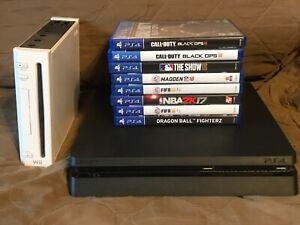 PS4 Console (8) Games Bundle Parts/Fix Playstation & Wii Console Call of Duty +