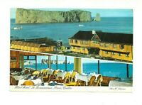 HOTEL MOTEL LE BONAVENTURE, PERCE ROCK, GASPE, QUEBEC, CANADA CHROME POSTCARD