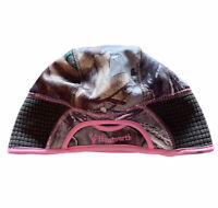 HUNTWORTH CAMO & PINK ONE SIZE BEANIE HAT CAP PONYTAIL OPENING