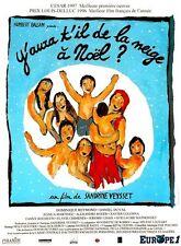 Affiche Pliée 40x60cm Y AURA T IL DE LA NEIGE A NOËL ? (1996) Daniel Duval EC