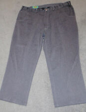 Mens Habands Fit Forever Dress Pants Grey Flat Front Expanding Waist Size 47