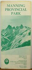 1968 Manning Provincial Park BC British Columbia Canada brochure map b