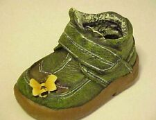 Childs Green Shoe Figurine Planter Pot